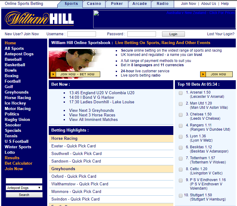William Hill 2003
