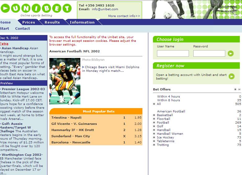 unibet.com 2003