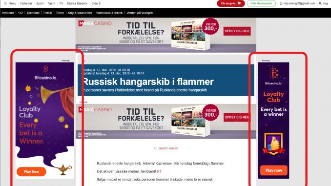 Bitcoin casino Ekstra Bladet